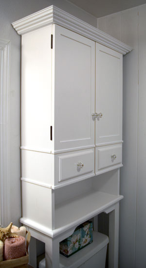 The runnerduck bathroom cabinet plan is a step by step for Bathroom cabinets above toilet