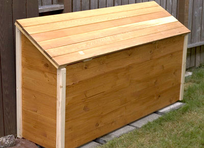 outdoor firewood box plans