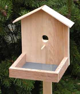 Wood Bird Feeders