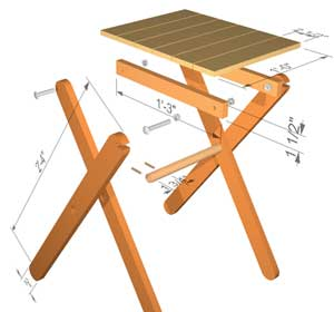 The Runnerduck Folding Table Step By Step Instructions