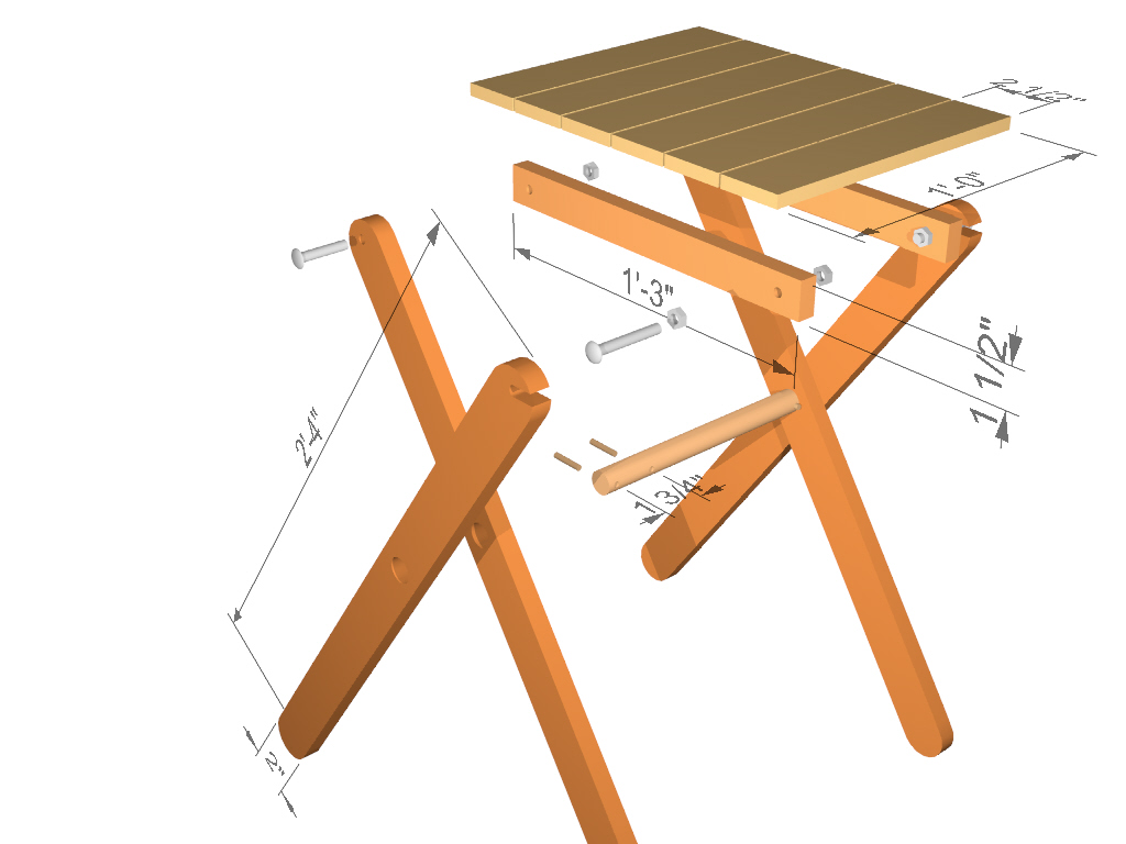 Model Multipurpose Folding Table  Woodsmith Plans