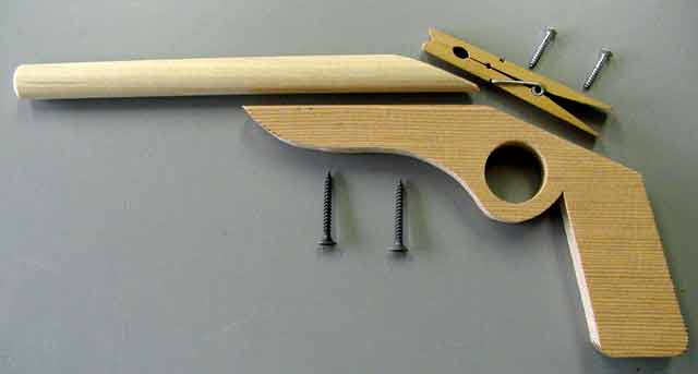Exploded View of Toy Rubber Band Gun