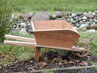 How To Build A Wooden Wheelbarrow Planter