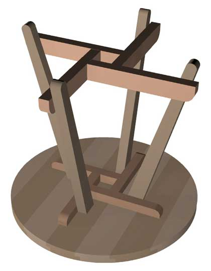 The runnerduck round patio table step by step for Table th bottom