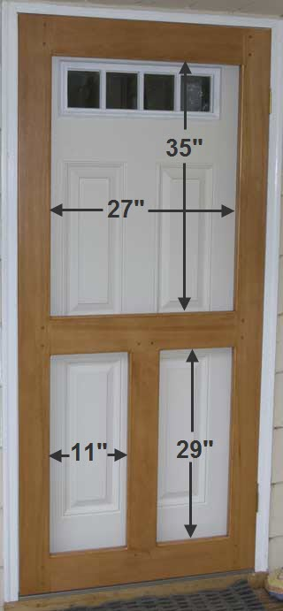 The runnerduck screen door plan is a step by step for Door dimensions
