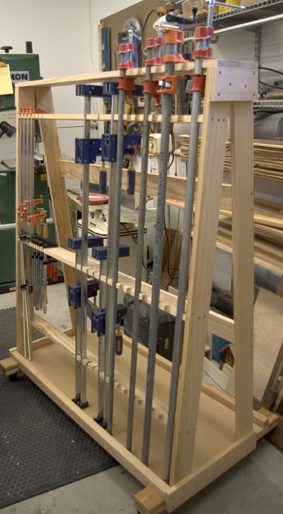 Woodworking Plan: wood clamp storage rack plans
